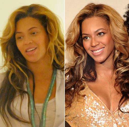 11 Shocking Photos Of Celebrities Without Makeup Genmice - Celebrity-without-makeup