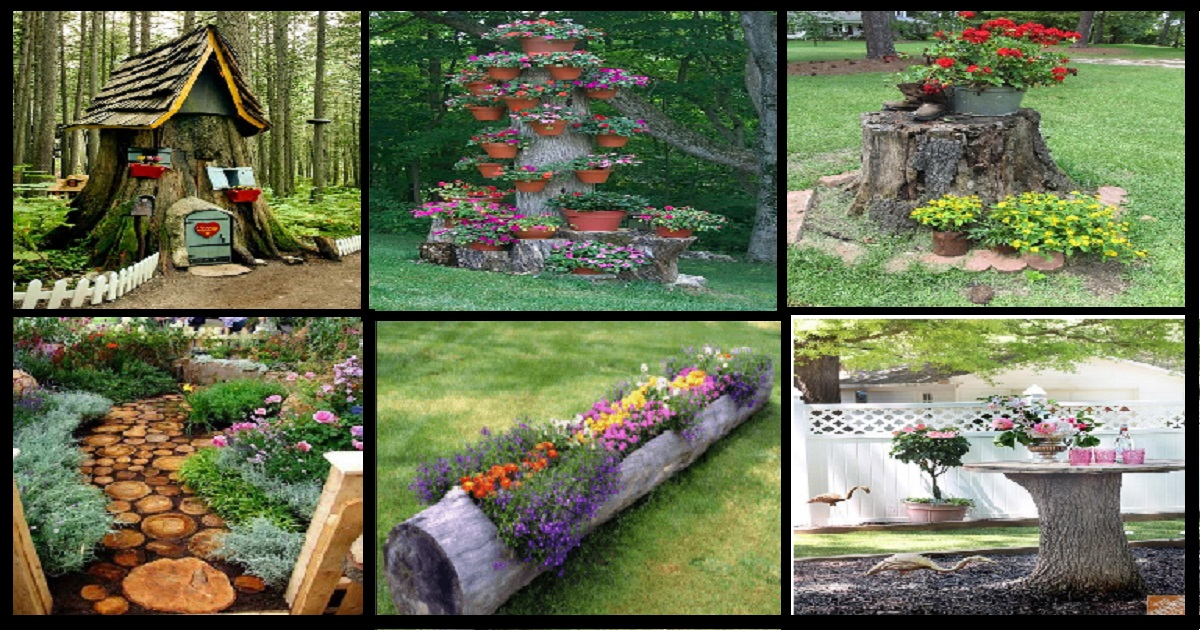 10 Awesome Diy Tree Stump Ideas That Can Enhance Your Yard Genmice