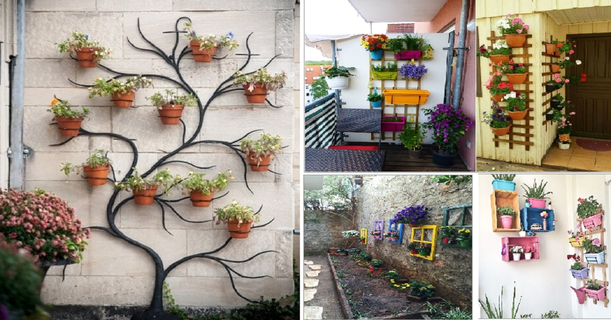 10 Creative Planter Display Ideas For Your Outdoor Wall ... on Outdoor Garden Wall Ideas id=63184