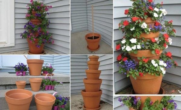 48 Creative Garden Projects Made Out Of Flower Pots Genmice Classy Garden Pot Ideas Decoration