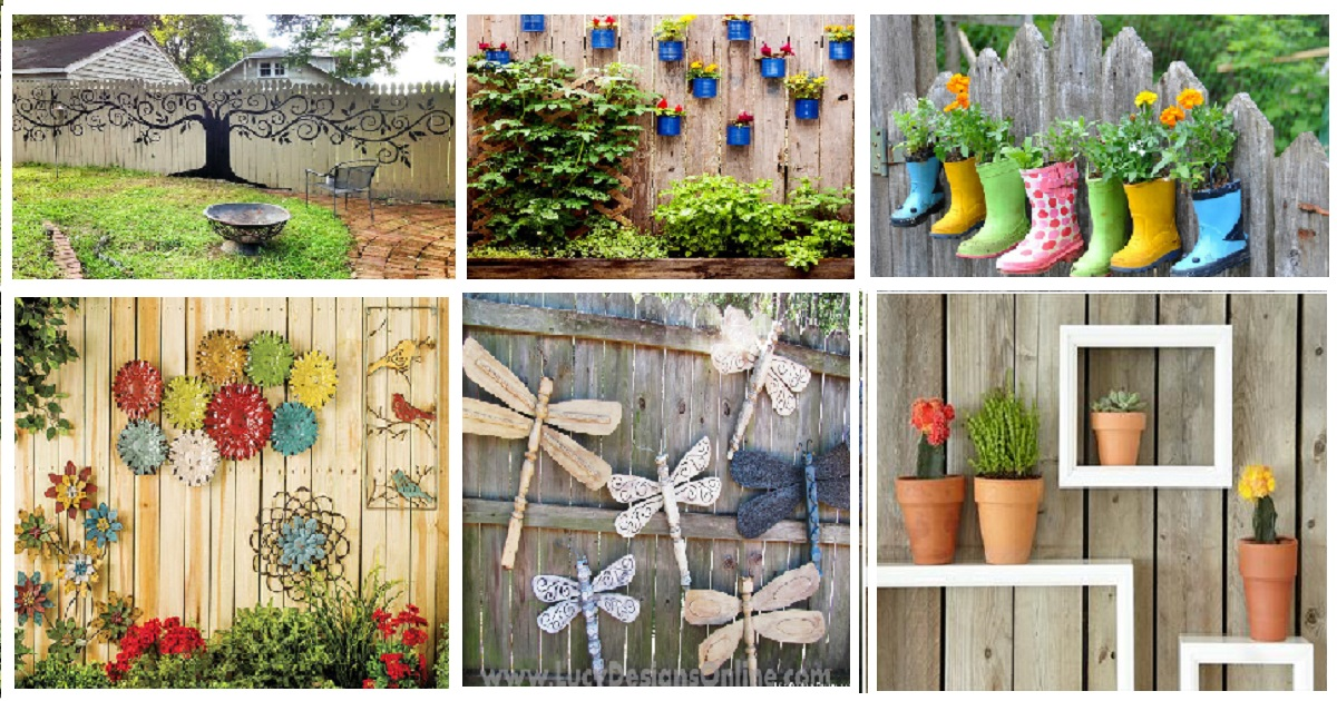 10 Creative Ways To Decorate Your Fence In Your Garden Areas Genmice
