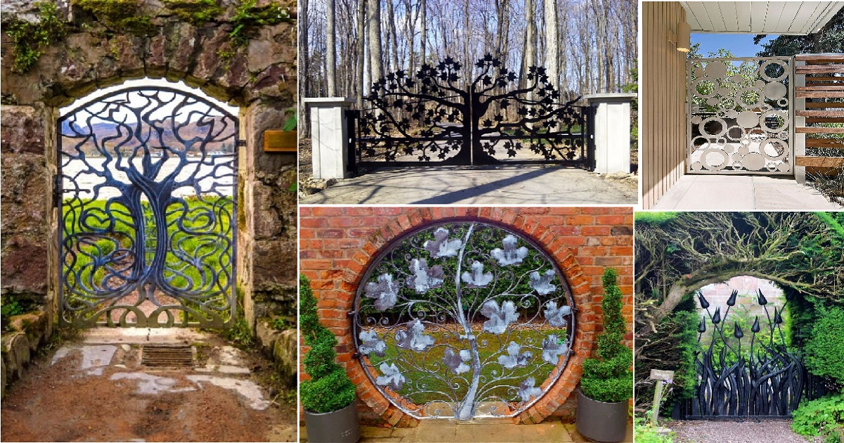 10 Intricate Metal Garden Gates Ideas For Your Outdoor