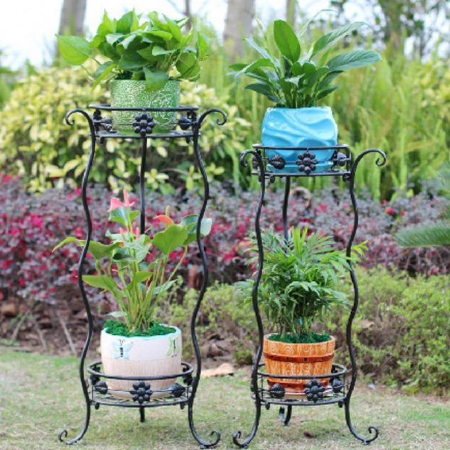 10 Most Amazing Iron Wrought Plant Stand Ideas For Your ... on Amazing Plant Stand Ideas  id=45902