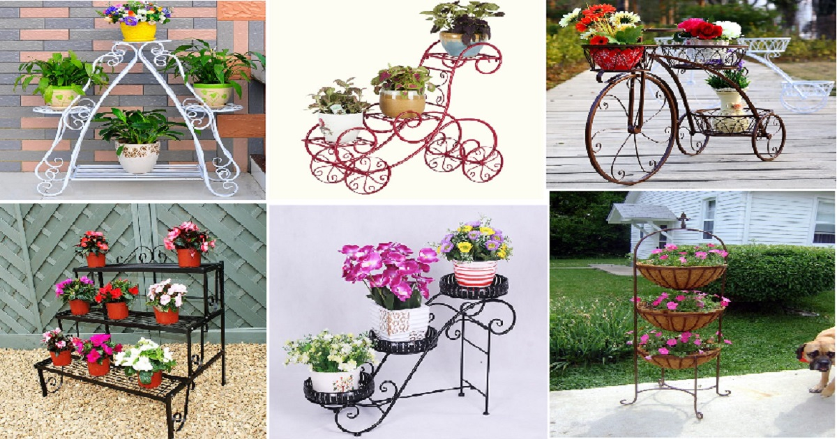 10 Most Amazing Iron Wrought Plant Stand Ideas For Your ... on Amazing Plant Stand Ideas  id=19190