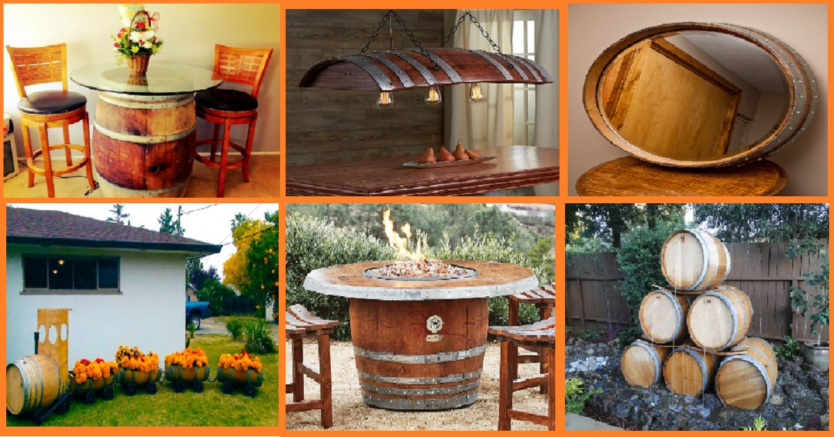 10 Ways To Reuse Old Wine Barrels For Outdoor Areas Genmice