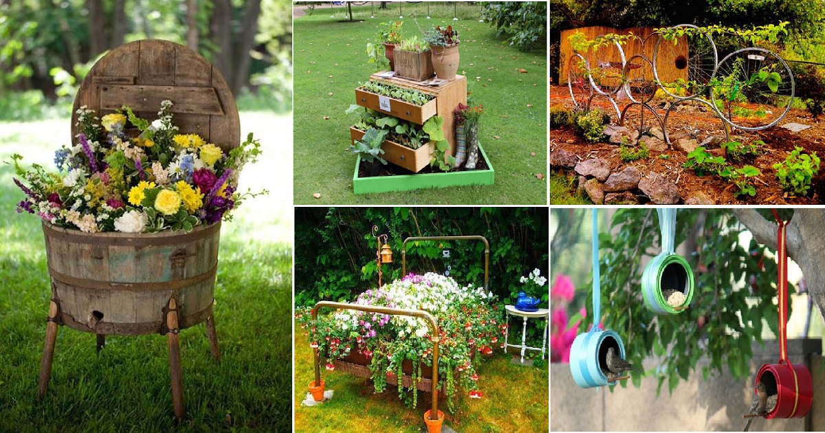 11 Creative Recycled Gardening Ideas From Old Materials ...