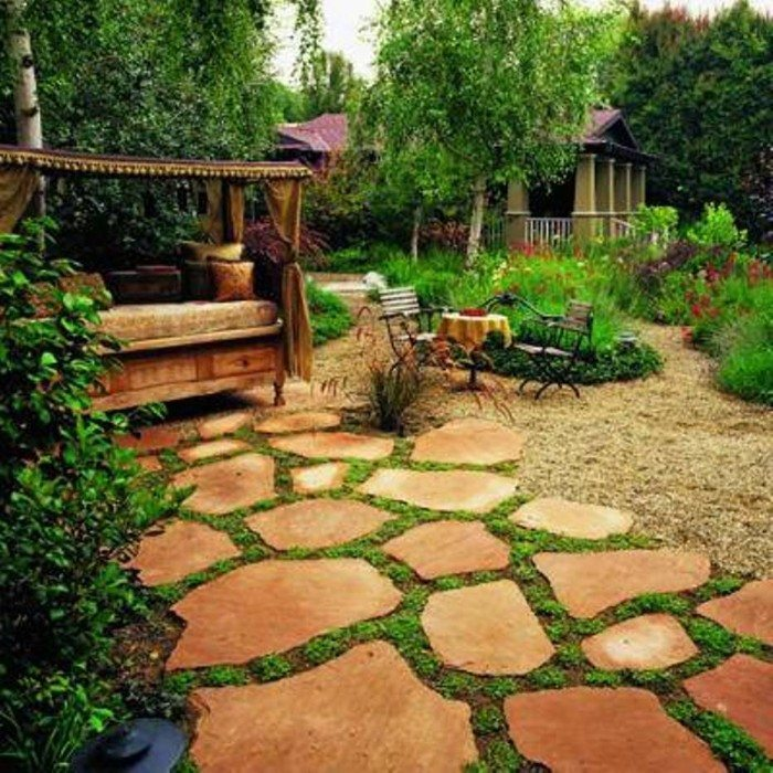 12 Elegant Garden Flooring And Walkaway Ideas With ... on Backyard Patio Landscaping id=51173