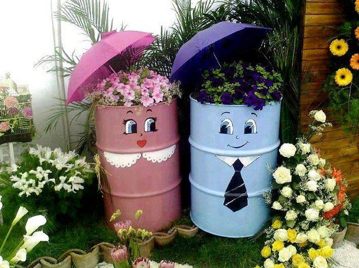 Container Ideas For Your Garden, Well This Might Grab More Attention, And  If You Donu0027t Use Container, As You Can Decorate It With Paint Colors And  Enhance ...
