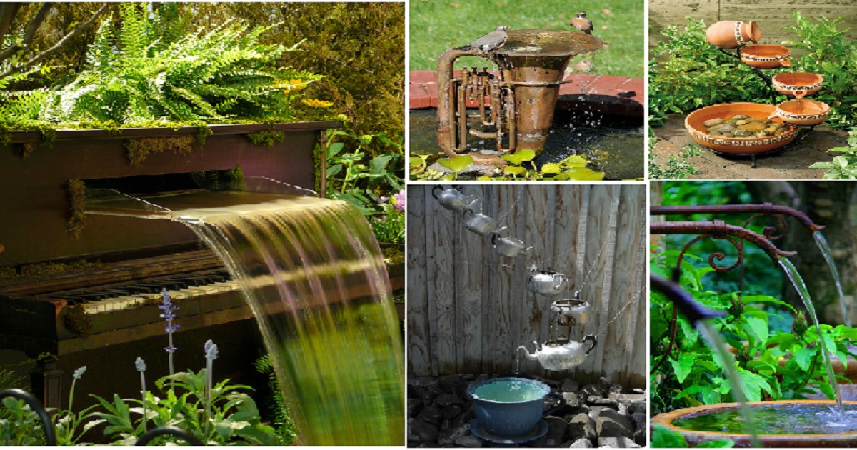 12 Great Ideas For A Modest Backyard: 12 Unique Backyard And Garden Fountains Ideas For Your