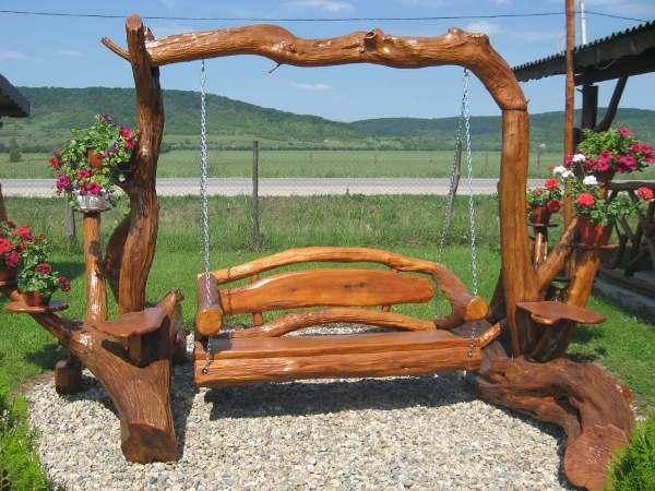 #15 Swing Wooden Bench