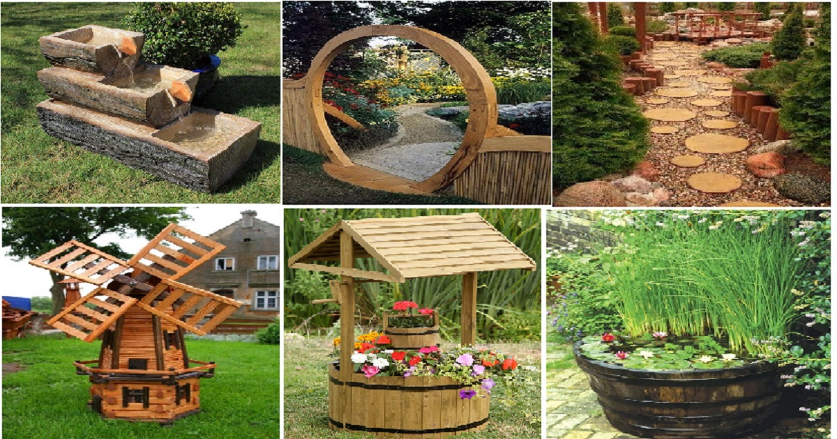 10 Attractive Garden Features With Wooden Ideas - Genmice