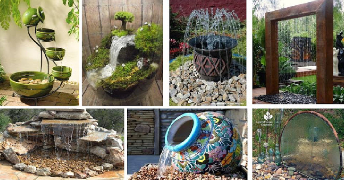 20 Water Fountain DIY For Unique Small Garden - Genmice