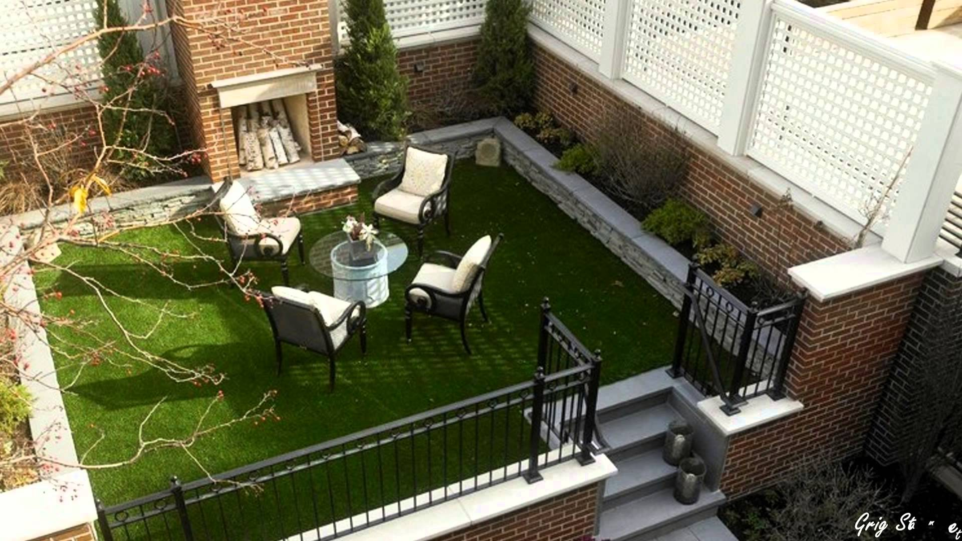 Awesome Garden Landscaping Ideas For Small Gardens: Amazing Ideas For Decorating Small Courtyards