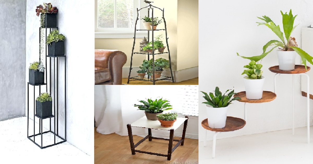 creative diy plant stand ideas that will truly amaze you. Black Bedroom Furniture Sets. Home Design Ideas