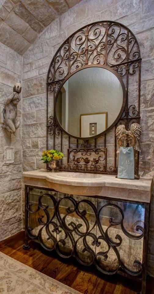 Elegant Bathroom Decorating Ideas With Amazing Wrought
