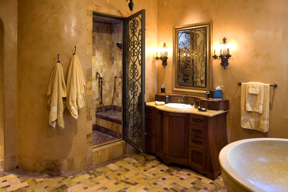 Elegant Bathroom Decorating Ideas With Amazing Wrought ...