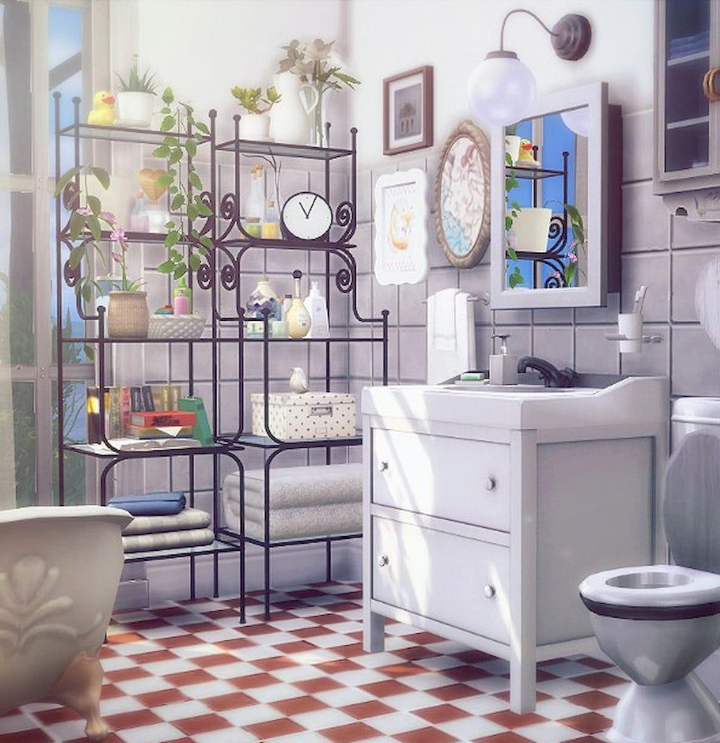fabulous shelf on bathroom counter | Fabulous Bathroom Shelves and Organizing Ideas That Will ...