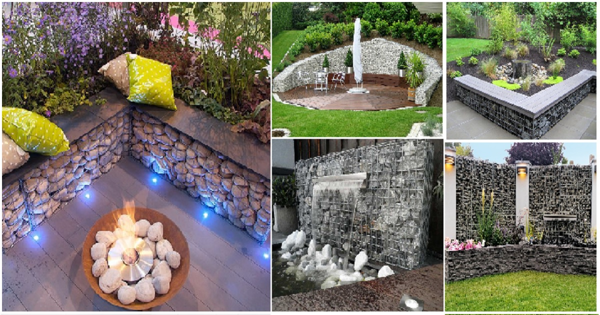 Give A Stunning Gabion Ideas For Your Decorative Garden Genmice