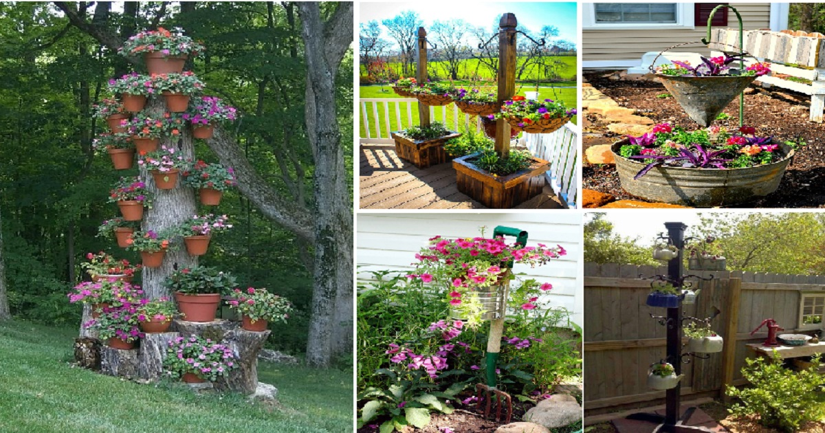 Give An Impressive Hanging Gardens Ideas For Your Outdoor Look   Genmice
