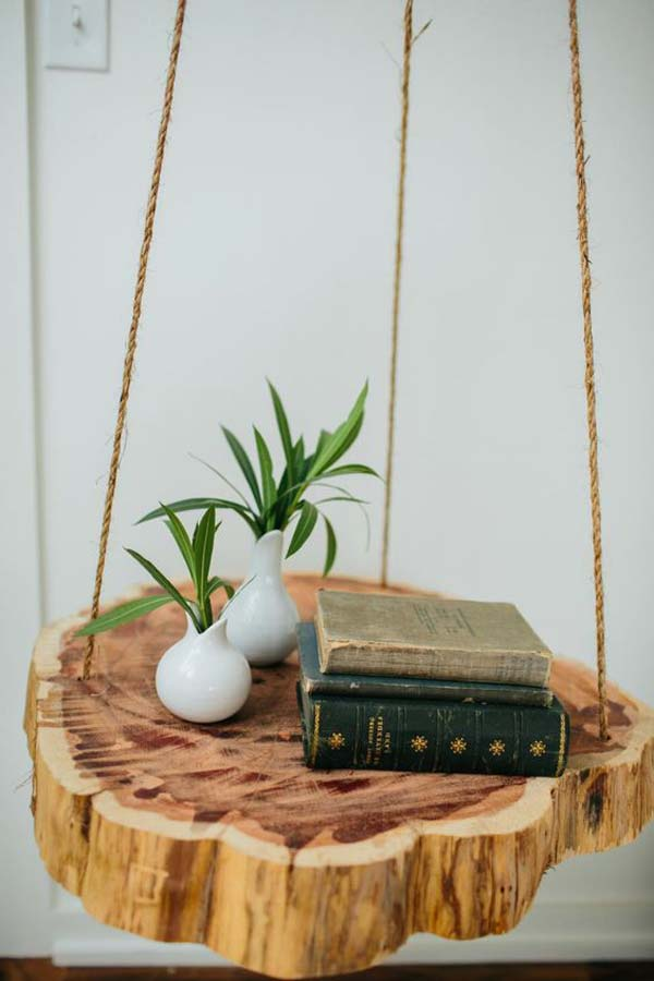 Give An Innovative Hanging Shelves Ideas To Maximize Your Small