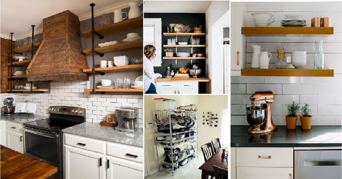 Magnificent Small Kitchen Remodel Shelving Storage
