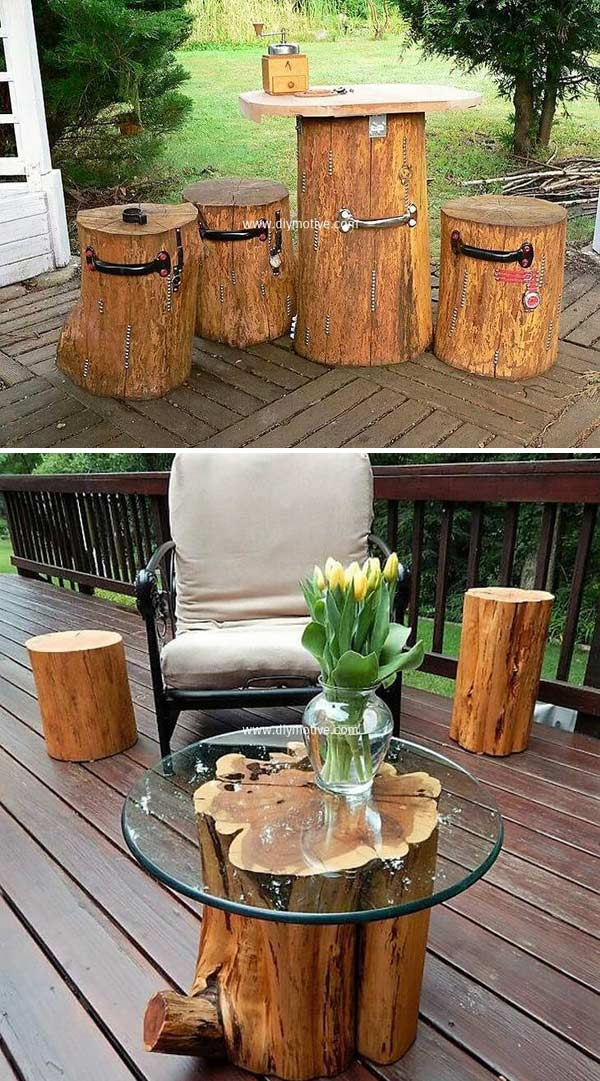 Most Amazing DIY Tree Log Ideas For Your Garden - Genmice