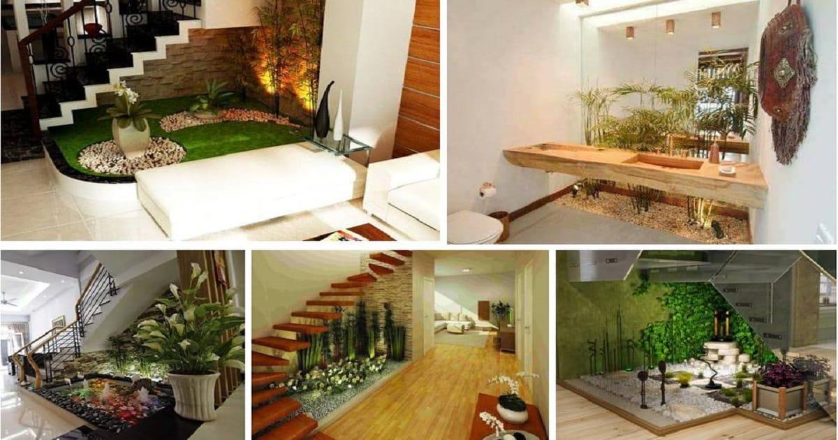 Most Amazing Indoor Small Pebble Garden Ideas