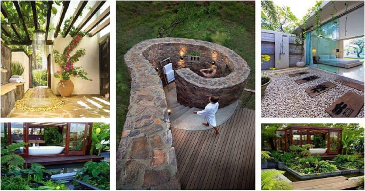 astonishing outdoor bathroom designs   Most Amazing Outdoor Bathroom Ideas That Will Amaze You ...
