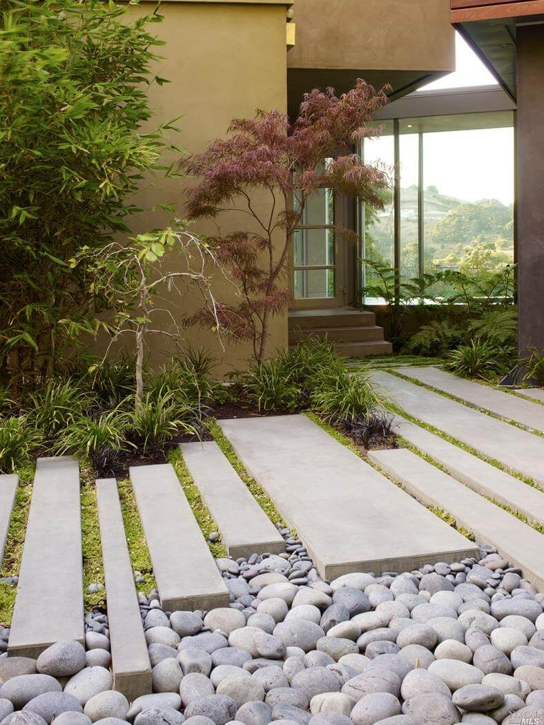 As you can see this one is giving a rustic look for the garden areas which is enhancing the big stone ideas and pathway for the outdoor look ... & Give A Fabulous Garden Pathway Ideas Which Will Inspire You - Genmice