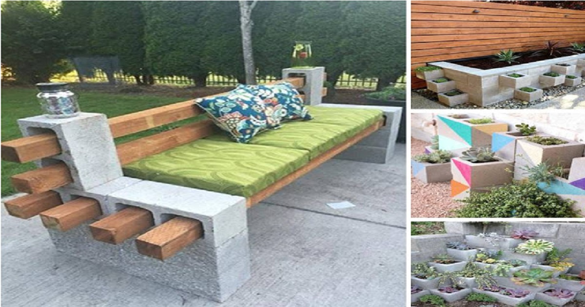 Most Stunning DIY Cinder Blocks Ideas For Amazing Backyard ... on Backyard Cinder Block Wall Ideas id=86828