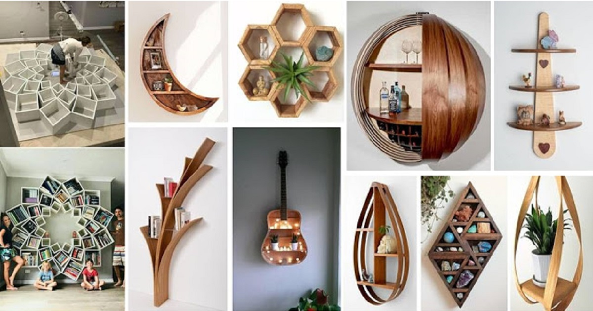 Most Unique Wall Shelves That Will Make