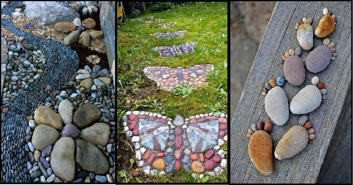 Stunning Diy Designs For Your River Rock Garden Ideas - Genmice