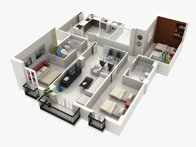 Top 10 House 3D Plans Which You Need To Know! - Genmice