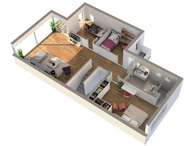#6 Great 3D Design For Home Planning