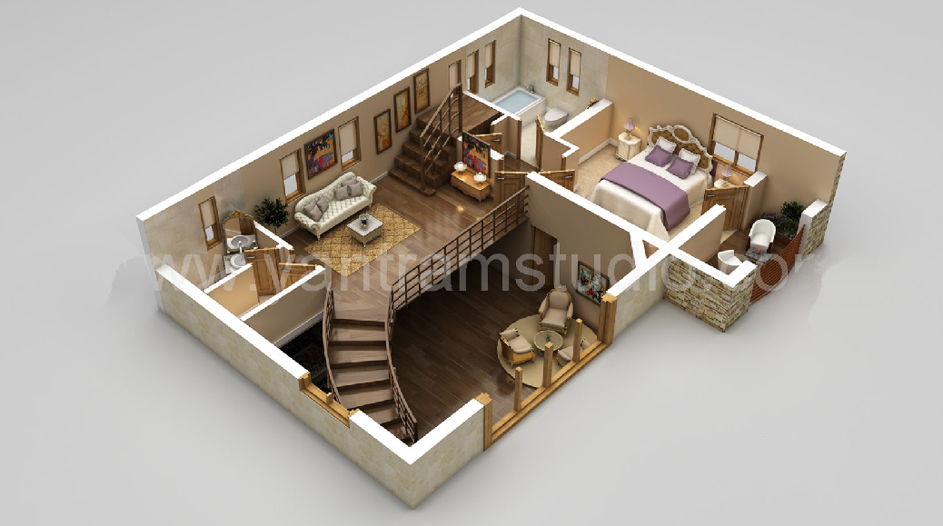 #10 Amazing 3D House Plans