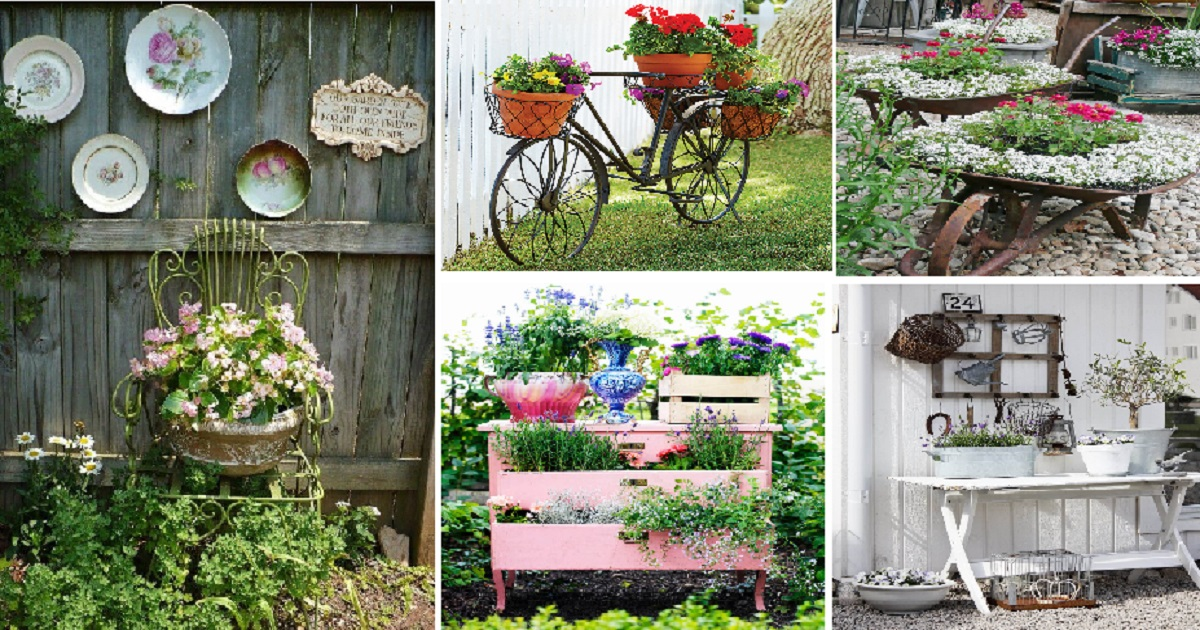 10 Vintage Garden Decor Ideas For Your Outdoor Spaces   Genmice