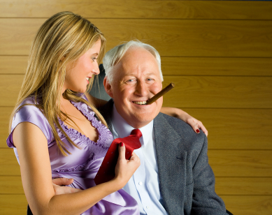 Why older man dates younger woman