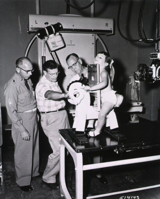Vintage medical photo speaking