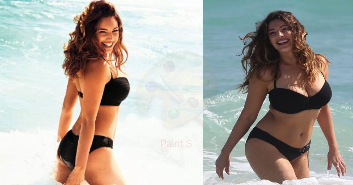 Woman s body looks like